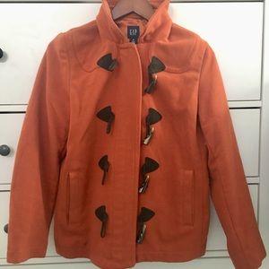 Gap orange wool coat with toggles